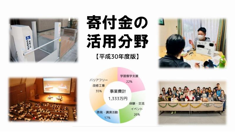 ポケットサポート寄付金の活用分野「平成30年度版」