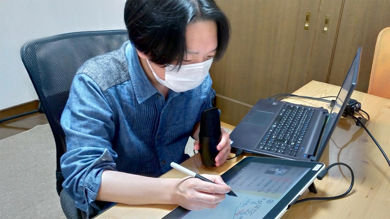 入院中の子どもたちとオンライン学習支援